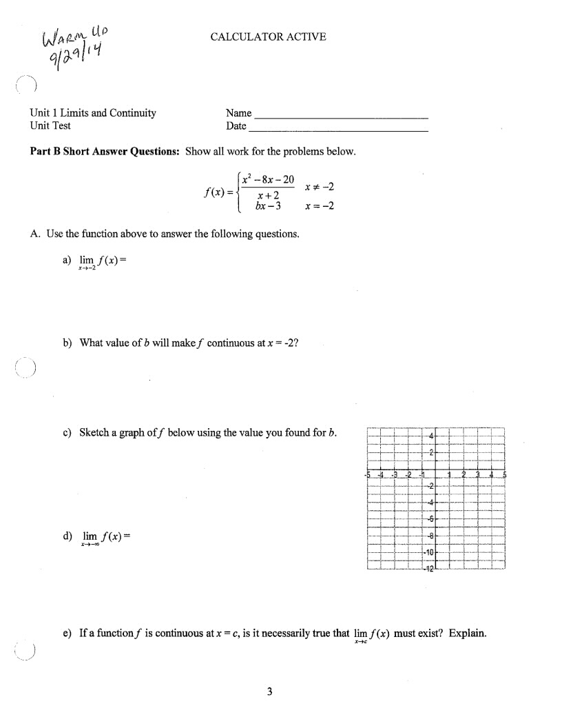 Limits Calculus Worksheet Free Worksheets Library